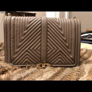 Rebecca Minkoff Jumbo Taupe Flap Bag